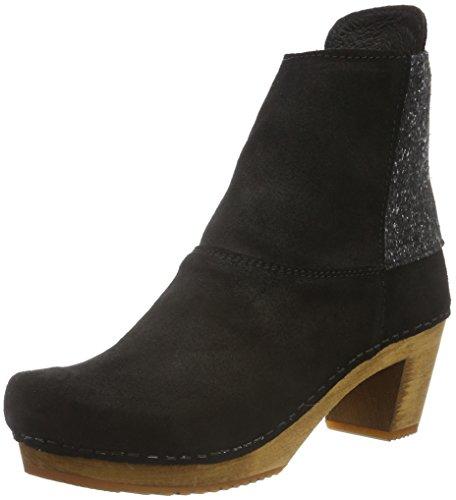 Sanita Damen Lilly Square Boot Schlupfstiefel, Schwarz (Black 2), 36