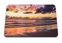 22cmx18cm マウスパッド (海岸砂地平線) パターンカスタムの マウスパッド