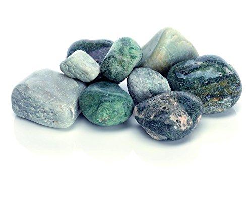 OASE biOrb Kieselstein Set - mehrteilige Aquariums-Dekoration, dekorative Steine aus Marmor, Zubehör fürs Aquarium-Becken, in Grün