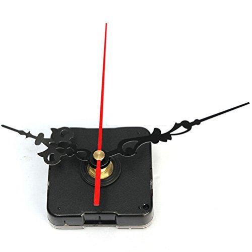 7thLake - Meccanismo di ricambio per orologio al quarzo, con meccanismo fai da te, alimentato a batteria, con lancetta nera per ore e minuti