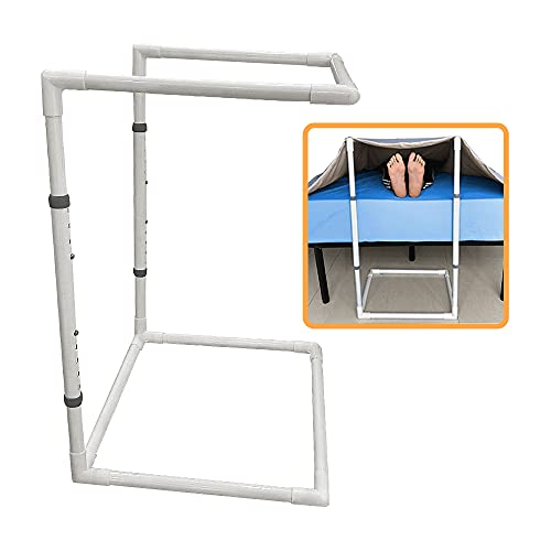 Blanket Lifters for Foot of Bed Blanket Lift Bar Sheet Lifter Holder Adjustable Foot Cradle Tent Blanket Support Help Ankle Surgery Recovery(26'- 34')