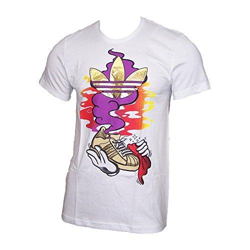 Adidas Homme T-Shirt The Sneaker Gen blanc S