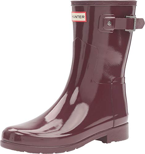 HUNTER Damen Original Refined Short Gloss Winter Schnee Regen Stiefel EU 36-43