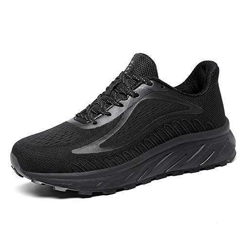 K DUORO Herren Damen Laufschuhe Straßenlaufschuhe Sneaker Leichte Joggingschuhe Turnschuhe Walkingschuhe Traillauf Fitness Schuhe (Schwarz, 46 EU, Numeric_46)