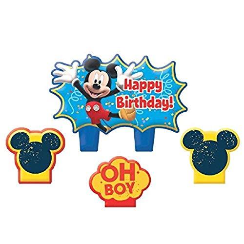 "Disney ""Mickey Mouse"" Mini Molded Cake Candles, Birthday"