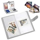 HAOX Estuche para Fotos, 3 Pulgadas, Duradero, 16 páginas, 96 Bolsillos, Estuche para imágenes de PU, Accesorio de cámara instantánea para recolectar boletos de Cine, boletos de automóvil
