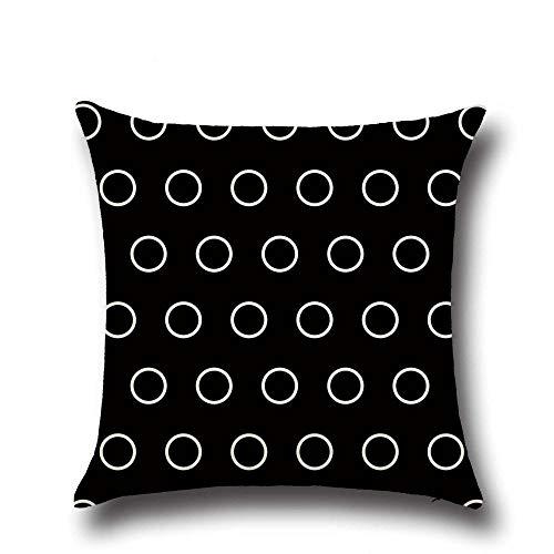 Cojines Funda de cojín Negro Fundas de Almohada para sofá Dormitorio Decoración para el hogar Coche Oficina 50 × 50cm con núcleo de Almohada