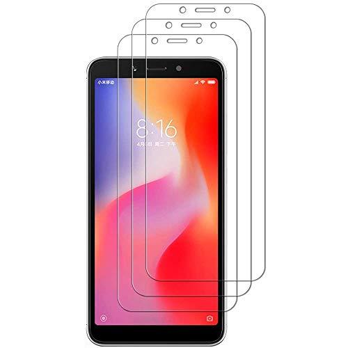 iGlobalmarket [Pack Ahorro - 3 Unidades] Protector de Pantalla Xiaomi Redmi 6 Pro/Mi A2 Lite, Vidrio Templado, sin Burbujas, Alta Definicion, 9H Dureza, Resistente a Arañazos