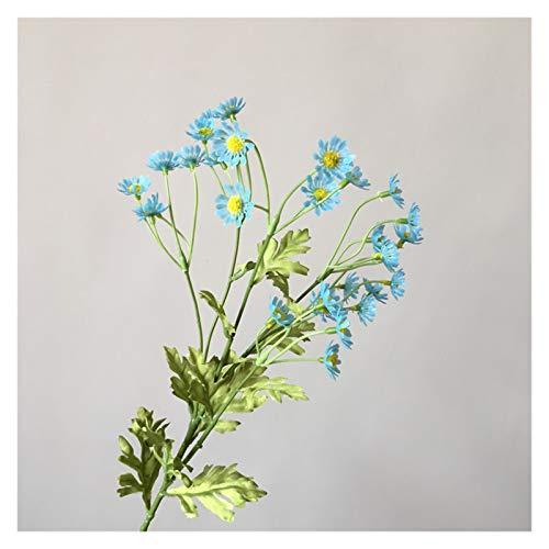 Zxebhsm Künstliche Blumen Künstliche Daisy Blumen Seide Gefälschte Kamille Blumen Staubblatt Kleine Daisy für Hochzeit Home Decor Tabelle (Farbe : Blue)