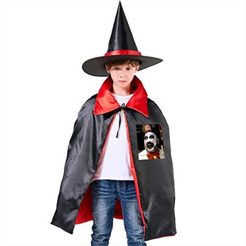 NUJSHF Captain Spaulding Filmposter, lustiges Geschenk, Designer Unisex Kinder Kapuzenumhang Umhang Cape Halloween Party Dekoration Rolle Cosplay Kostüme Outwear