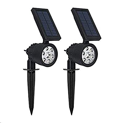 Westinghouse 2-in-1 Spotlight Landscape Wall Lights Outdoor, 200 Lumens Wall Lights Garden Lights Waterproof White 7 LEDs Solar Powered Spotlight for Patio Yard Pathway Porch Pool Garage(2 Pack?