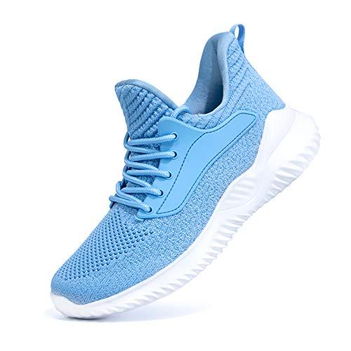 Zapatillas de deporte de malla transpirable para mujer, color Azul, talla 36.5 EU