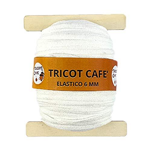 woolove Elastico Speciale per mascherine 6mm Bianco, Morbido e Leggero Non Lascia segni sulla...