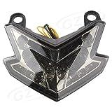 XuBa - Luces LED para luz trasera de motocicleta, luces intermitentes traseras de freno para Kawasaki Z800 13-16 luces integradas