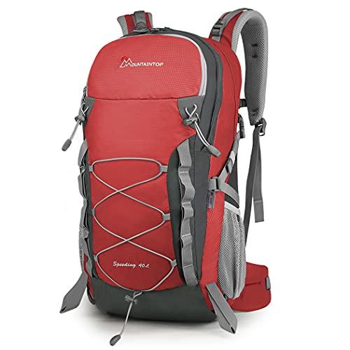 MOUNTAINTOP Mochilas Senderismo 40 litros Mochilas Montaña Trekking Alta Capacidad Impermeable Hombre Mujer Mochila para Viajes Acampadas
