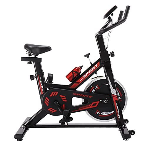 Spinning Bike Bici per La Casa per La Casa, La Bicicletta Ferma da Interno con Supporto per iPad E Monitor Digitale, Silenzioso Volano Rotali