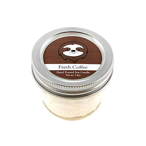 Sloth Conservation Candle - Coffee Scent | Wildlife Conservation Natural Vegan Soy Candle