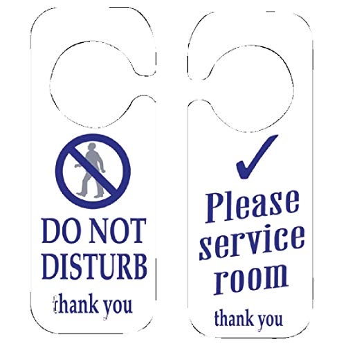 Seco Do Not Disturb//Knock /& Enter confezione da 5 255 x 52 mm Cartello scorrevole in alluminio//PVC