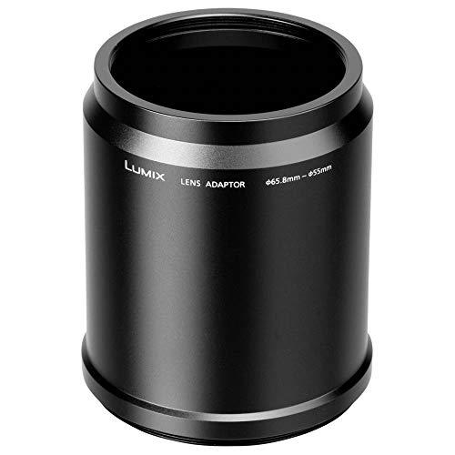 Panasonic LUMIX DMW-LA8GU Adapterring (geeignet für Panasonic LUMIX DMC-FZ72/LT55/LC55) schwarz