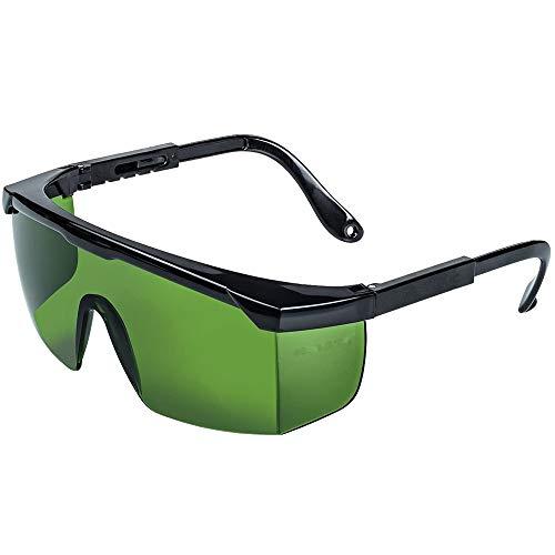 Schutzbrille Lichtschutzbrille für die HPL/IPL Haarentfernung Gerät Einstellbar IPL Haarentfernungsgerät Brille Schutzbrille für IPL Haarentferner für Körper Gesicht Bikini-Zone & Achseln(Dunkelgrün)