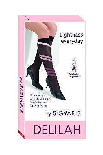 Sigvaris Delilah - Calcetín de compresión graduado, color negro, 30 g