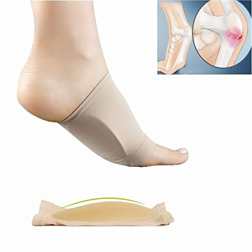 Arch Support, Plantar Fasciitis Inserts Flat Foot Band with Fasciitis Gel Pad Planting Support Elastic Bow Foot Care