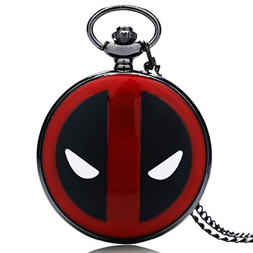Herren Taschenuhr, Deadpool Taschenuhr mit Halskette Kette, Geschenk für Herren Xmas Gift