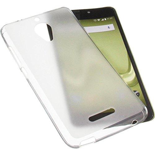 foto-kontor Tasche für Wiko Tommy 2 Plus Gummi TPU Schutz Handytasche transparent weiß