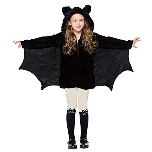 OBEEII Disfraz de Murcielago para Nios Murcilago Vampiro Halloween Cosplay Fiesta Fancy Dress Up Costume Negro02 S