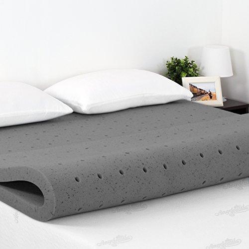 Furinno Angeland 2-Inch Bamboo Charcoal Memory Foam Mattress Topper, Queen