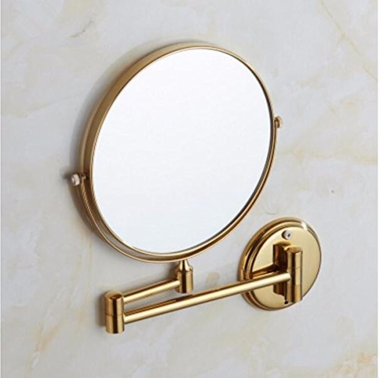 Bathroom wall mounted redating mirror folding mirror toilet telescopic mirror double sided magnification mirror-bathroom-8 inch gold mirror