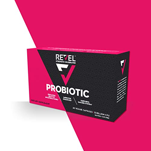 Revel Probiotic Capsules for Women | 12 Billion CFU Shelf Stable | Health Supplement Promotes Intestinal Flora | Immune System Booster |60 Count