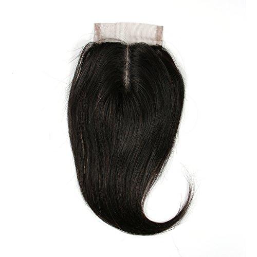 """BLISSHAIR Top Lace Closure Middle Part 3.5"""" x 4"""" Bresilien Vierges Extensions de Cheveux Humains Noir Naturels Straight 8"""""""
