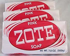 Zote Laundry Soap Bar - Stain Remover - Catfish Bait - Pink 3 Bars-7 Oz (200g) Each