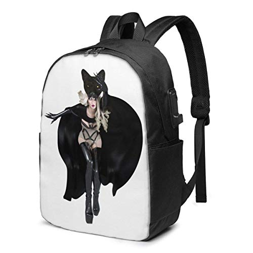 YTHH Maria Brink Backpack, with USB Charging Port, Laptop Backpack, 17-inch Backpack