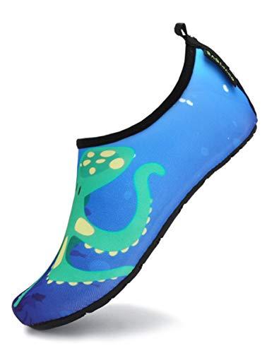 SAGUARO Escarpines Niña Escarpines Piscina Niño Ligero y Cómodo Zapatos de Agua Antideslizante Secado Rápido Zapatillas Estilo:6 Azul A Gr.28 29
