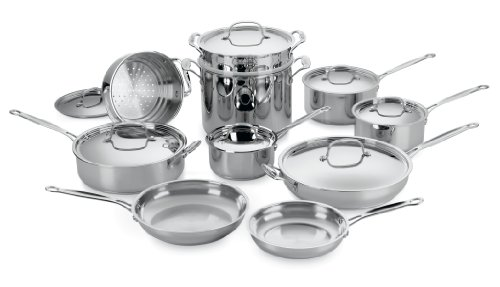 Cuisinart Chef's Classic Stainless 17-Piece Cookware Set DISCONTINUED BY MANUFACTURER