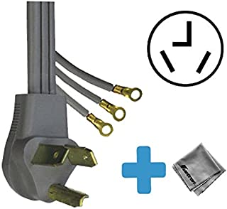 Replacement Cord Cable for LG - SteamDryer 7.4 Cu. Ft. 10-Cycle Ultralarge-Capacity Steam Electric Dryer (DLEX3370V)