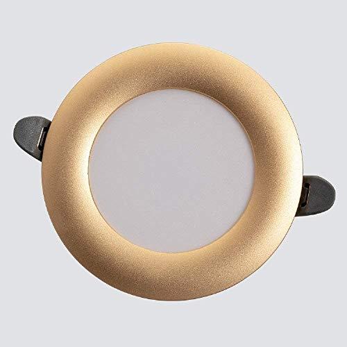 Wlnnes 5W / 7W Moderno LED Empotrado Downlight Indoor Empotrado Empotros Empotros Dimmable de 3 colores Panel de aluminio redondo Linterna de techo 82RA Lámpara de techo empotrada AC110V-240V