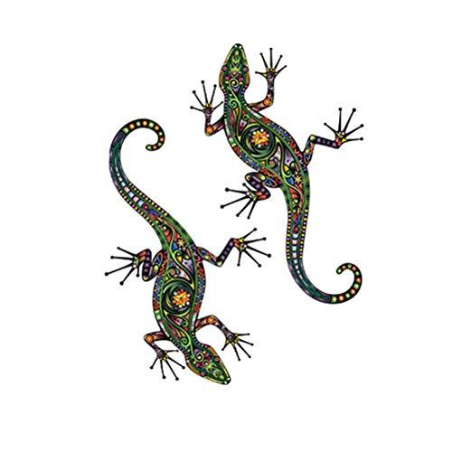 Vosarea Gecko Wandaufkleber Eidechse Wandtattoo PVC Aufkleber Wandbild für Wand Fenster Schlafzimmer Wohnzimmer (65x50cm)