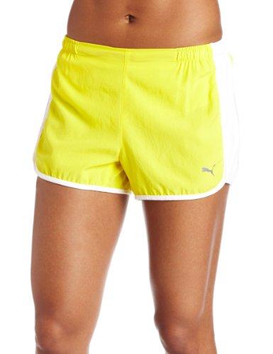 PUMA Damen-Shorts, 7,6 cm, Buttercup/Weiß, X-Groß