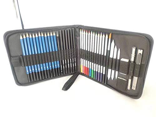 LAIDEPA 41 Pezzi Penna da Colorare per Adulti, Matite Disegno per Artisti Professionisti Matite Disegno Colorate Forniture Artistiche Set di Accessori, per Adulti Colorare E Disegnare per Bambini,A