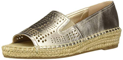 Bella Vita Women's Cora Espadrille Step-in Shoe, Champagne Leather, 5.5 M US