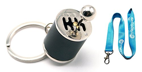 GT//Rotors Six Speed Manual Transmission Shift Lever Keychain [Bonus: Free Lanyard]