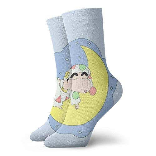 Herren Crew-Socken Schlafstift Shin-Chan Malerei Kompressionssocken Cool Cushion Trainingssocken