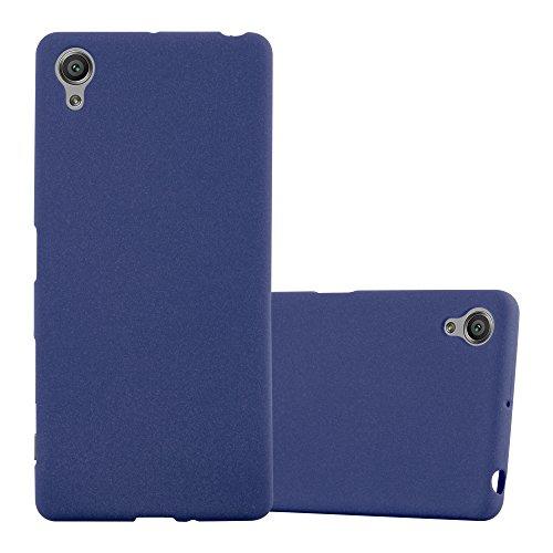 Cadorabo Coque pour Sony Xperia X en Frost Bleu FONCÉ - Housse Protection Souple en Silicone TPU avec Anti-Choc et Anti-Rayures - Ultra Slim Fin Gel Case Cover Bumper