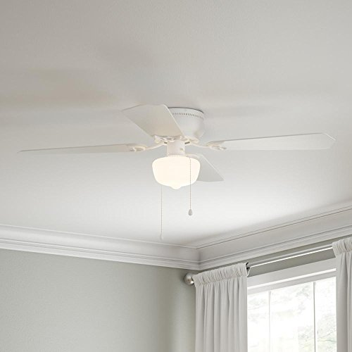 LED Indoor White Ceiling Fan With Light Kit Traditional Look Variety Of Decor Styles 42 In