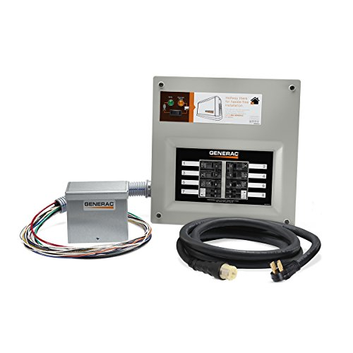 Generac 9855 HomeLink 50-Amp Indoor Pre-wired Upgradeable Manual Transfer Switch Kit for 10-16...