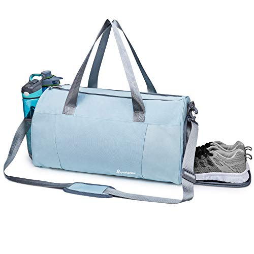 Sports Gym Bag with Wet Pocket & Shoe Compartment Fitness Workout Bag for Men and Women, Mint Green