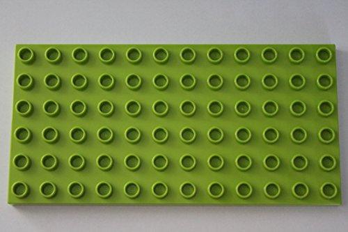 LEGO Duplo Eisenbahn Bauernhof 72er Bauplatte hellgrün 6x12 Noppen